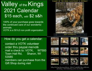 2021 Valley of the Kings Calendar
